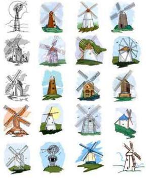 OESD 11724 Windmills 1 CD Design Pack