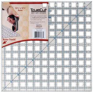 """Grace TrueCut GCTR12S 12.5"""" x 12.5"""" Square Ruler, True Cut Guide Track"""