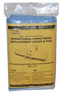 "Golden, Hands, GH-299, Sensational, Home, Press, Replacement, Cover, and, Pad, for, Family, Press, FP202XL, 36"" x 12"", 100%, Cotton"