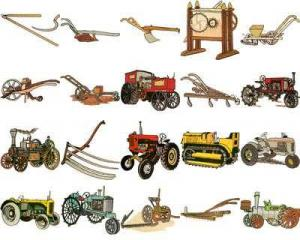 OESD 11268 Antique Farm Equipment Embroidery CD Design Pack
