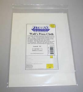 "Walts FPC Floriani Press Cloth 14x28"" Protects Fabrics & Embroideries"