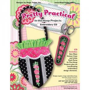 Hope Yoder HYPROJPP Pretty Practical In-The-Hoop Projects Designs CD