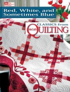 McCalls MCB1091 Red, White & Sometimes Blue Quilting Book, 17 Designs
