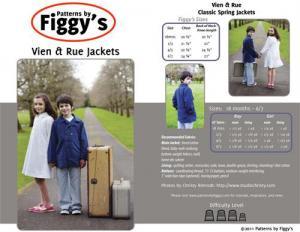 Figgys PAF06 Vien & Rue Jackets 18m-6/7yrs
