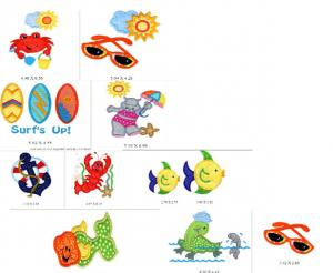 Sew Many Designs At The Beach Applique Designs Multi-Formatted CD