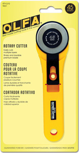 45MM      -OLFA HV DUTY CUTTER, Olfa RTY-2/G The Original 45mm Diameter Manual Rotary Knife Blade Cutter