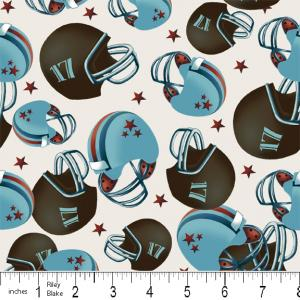 "Riley Blake Designs 15Yd Bolt 7.34 A Yd  C2513 Blue PlayBall Helmets 100% Cotton  45""Fabric"