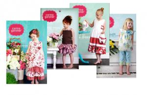 Carina Gardner Sewing Patterns, 4 Patterns, 2T-8Yrs, Suntop/Skirt, High Tea Soiree, PlayDate Outfit