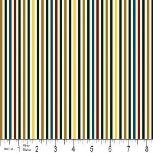 """Riley Blake Designs 15Yd Bolt 7.34 A Yd  C2516 Cream  PlayBall  Stripes100% Cotton  45""""Fabric"""