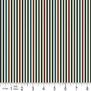 """Riley Blake Designs 15Yd Bolt 7.34 A Yd  C2516 Red PlayBall Stripes  100% Cotton  45""""Fabric"""