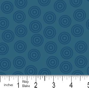 "Riley Blake Designs 15Yd Bolt 7.34 A Yd  C2517 Blue PlayBall  Dots    100% Cotton  45""Fabric"