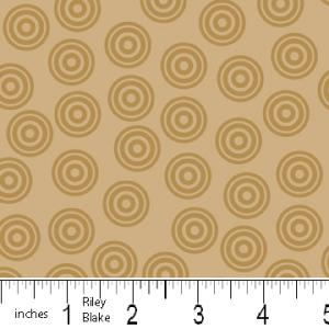 "Riley Blake Designs 15Yd Bolt 7.34 A Yd  C2517 Brown  PlayBall  Dots    100% Cotton  45""Fabric"