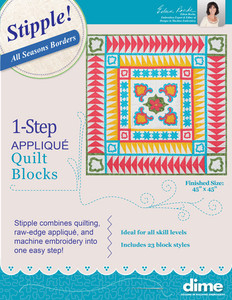 DIME STP0070 1-Step Quilting Applique Stipple! 23 Quilt Block Designs Borders