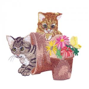 Amazing Designs  ADP 100 Kitten Capers by Sewing With Nancy Embroidery Designs