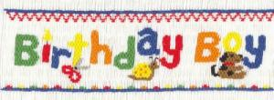 Cross-eyed Cricket CEC251 Birthday Boy Smocking Plate