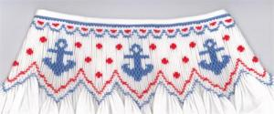 Cross-eyed Cricket CEC259 Anchors Smocking Plate, Color Pattern