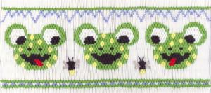 Cross-eyed Cricket CEC260 Mouth Of The South Frog Smocking Plate