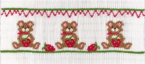Cross-eyed Cricket CEC263 Strawberry Bearers Smocking Plate