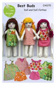 Olive Ann Designs OAD70 Best Buds Doll And Doll Clothes Pattern