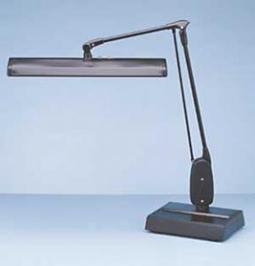 Dazor 2324E Professional 27 inch Floating Swing Arm Desk Lamp, 27 inch Reach, 15W, Two Fluorescent F15T8  Cool White Light Tubes, 3 Wire Grounded Cord MADE USA