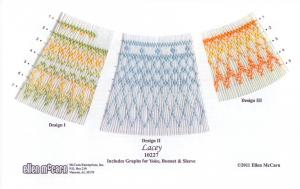 Ellen McCarn 10227 Lacey  Smocking Plate Sewing Pattern in Colors