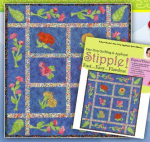 Designs Machine Embroidery Stipple! STP0080 Tropical Flowers, 9 Embroidery Designs