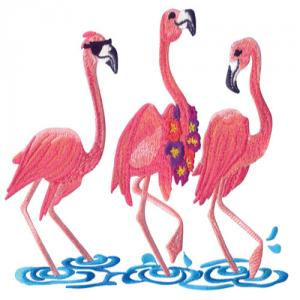 Amazing Designs ADC-196 Flamingo Fantasy Embroidery Designs