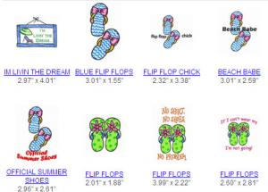 Great Notions 112387 Flip Flop Country Multi-Formatted CD Embroidery Designs
