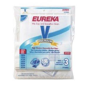 Eureka 57698A-6 Style V  Vacuum Bags for use with Eureka 3800, 3900, 6700 Series Canisters (6 pack)