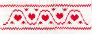 Cross-eyed Cricket  CEC256 Rolling Hearts Smocking Plate