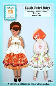 Jona Giammalva JG01 Edith Twirl Skirt Pattern sz 2-10 2 styles