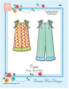 Bonnie Blue BBDP140 Cassie Pattern sz 6-24mo