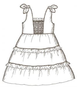 Primrose Lane  PL96B Miranda Dress, Shorts and Top sz 2-8 Pattern