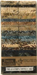 "Timeless Treasures Tonga Treats Coffee Cake 40 Fabric Strips 2 1/2"" X 43/44"" Inches, 100% Cotton Batik Prints Made in INDONESIA"