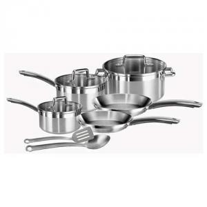 T-fal ® C878SA74 Elegance 10-piece Stainless Steel Cookware Set
