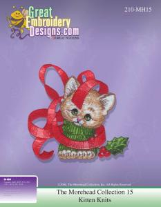 Great Notions 111778 The Morehead Collect MH15 Morehead Kitten Knits Embroid Designs  Multi-Form CD