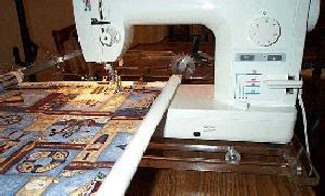"Super Quilter  Machine Quilting Frame Made in Canada goes up to 125"" King size"