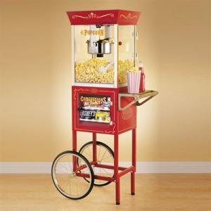 "Nostalgia Electrics CCP-610 Vintage Collection 59"" Popcorn & Concession Cartnohtin"