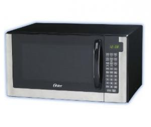 Oster OGG61403 1.4 Cubic Foot Digital Microwave Oven, 1200 Watts, Stainless Steel Housing, 10 power levels, 9 one touch cooking options, child lock