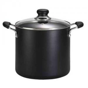 T-fal A9227964 Total-Non Stick 8-Quart Stock Pot, Black