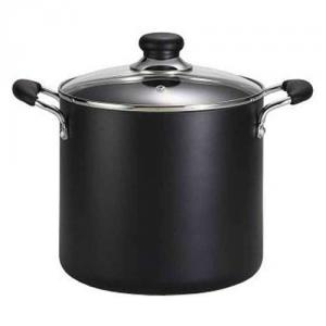 T Fal A9228064 Total Non Stick 12 Quart Stock Pot, Black