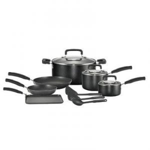 T-fal C111SC64 Signature Total Non-Stick 12-piece Cookware Set, Black