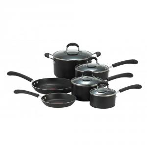 T-fal E938SA74 Professional Total Non-Stick 10-piece Cookware Set, Black