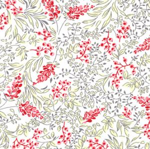 Fabric Finders 15 Yard Bolt 9.34 A Yd L47  Lawn L47 Red/ChartreuseFabric 100% Cotton 60 inch