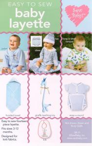 Sew Liberated  sb11  Easy Baby Layette Pattern sz 3mo-12mo Pattern