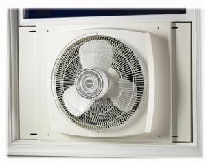 "Lasko 2155A 16"" Electrically Reversible Window Fan, 3-Speed"