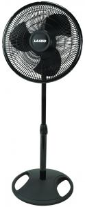 "Lasko 2521 16"" Oscillating Stand Fan, 3-Speed, Black"