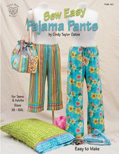 Cindy Taylor Oates 6485B Sew Easy Pajama Pants Sewing Pattern Teens And Adults XS thru XXXL