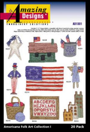 Amazing Designs / Great Notions 1301 Americana Folk Art Collection I Multi-Formatted CD