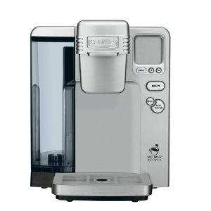 Cuisinart SS-700 Single Serve Coffee Tea Cocoa Brewing System, Hot Water for Instant, Removable 80oz Water Tank, 5 Cup Sizes 4-12oz, Rinse, Drip Tray